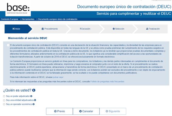 DEUC - Portal comisión europea - Circulantis