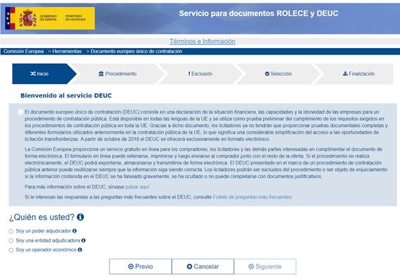 DEUC - Portal ROLECE - Circulantis